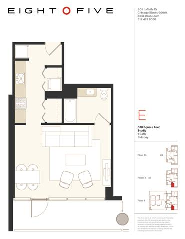 1 bed floor plans starting at 2700 month